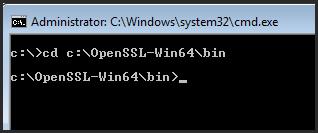 Open OpenSSL directory