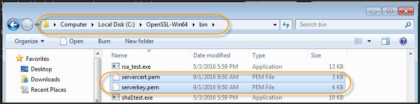 Necessary PEM files